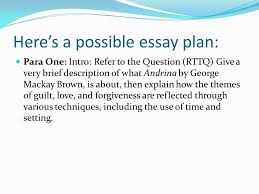 how to ensure that you have a decent essay plan remember that in  7 here s a possible essay