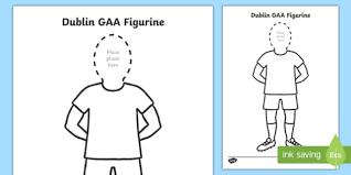 Dublin Gaa Footballers Cut Out Gear Cut Outs Irish