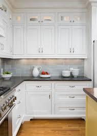 cool backsplash ideas and black countertop for kitchen designs
