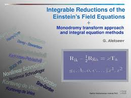 integrable reductions of the einstein s field equations