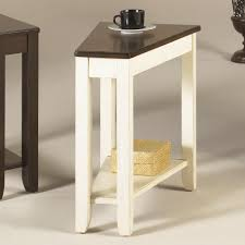 chair side table. narrow hammary wood chairside table with rattan basket storage painted white legs and brown wooden top ideas chair side