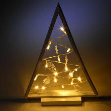 Details Zu Led Fensterdeko Weihnachten Deko Dekobaum Hänger Holz 15 Leds Warmweiß 40cm