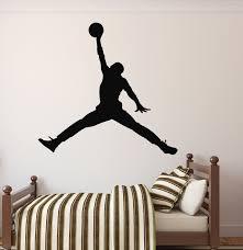 best and newest michael jordan wall decal basketball wall decor inside nba wall
