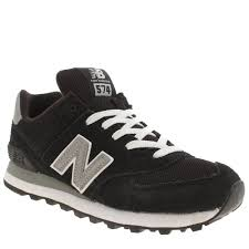 new balance womens trainers. cheap fashion new balance 574 suede and mesh women trainers in black/white color womens