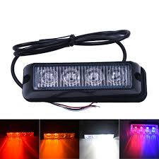 Led Blue Police Lights Us 8 45 6 Off 4 Led Red Blue Yellow White Car Police Lights Flash Truck Emergency Beacon Light Bar Hazard Strobe Warning Policia Universal In Car
