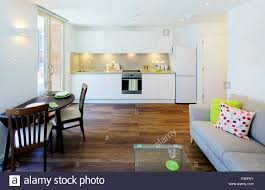 Open Plan Living Kitchen Living Room One Church Square London Uk View Of An Open Plan Kitchen And