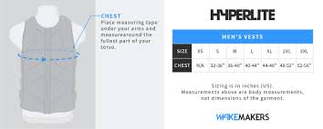 Mens Wakeboard Size Chart Hyperlite Indy Cga Life Jacket