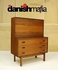 modern secretary desk mid century danish modern rosewood secretary desk dresser credenza