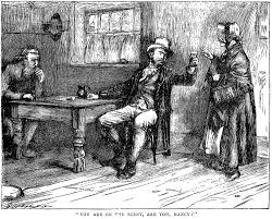 oliver trapped by nancy and sikes harry furniss s eleventh above james mahoney s household edition illustration of fagin s inquiring as to whether nancy and sikes have located the missing oliver in you are on the