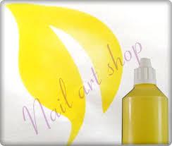 Airbrush Barva Na Nehty žlutá