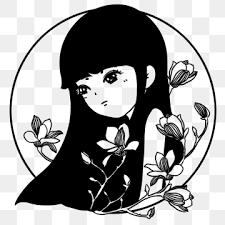 花 白黒画像素材png画像イラストpsdと無料ダウンロード Pngtreeの