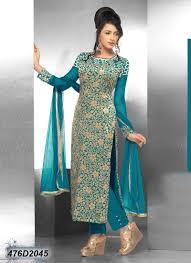 Salwar Kameez Latest Designs Online Pleasant Blue Coloured Velvet Net Salwar Suit Salwar Suits