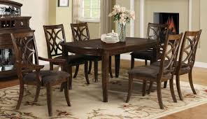acme 60255 keenan dark walnut wood dining table set 7pcs with leaf traditional reviews acme