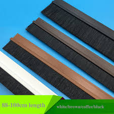 pvc brush door sweep seals bottom adhesive detachable dismountable 15mm 2cm 25mm 3cm 35mm 4cm 5cm