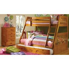 One Honey Twin/Full Bunk Bed, One 5 Drawer Chest, and One Student