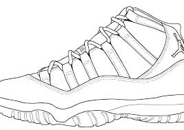 Coloring Pages Jordan Shoes Coloring Pages Printable Coloring