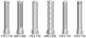 Столб и колонна - традиционные детали, материалы и способы изготовления.
