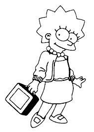Coloriage Lisa Simpson Imprimer