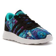 adidas shoes for girls black. adidas lite racer k girls running shoes black white for
