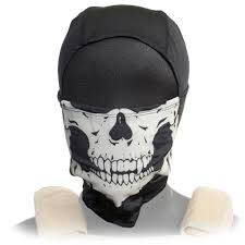 lancer tactical glow in the dark ghost skull mask balaclava black airsoftnmore com