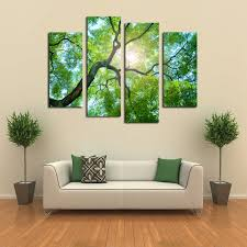 wall paintings for home decoration gorgeous panels no frame green tree painting canvas wall art picture