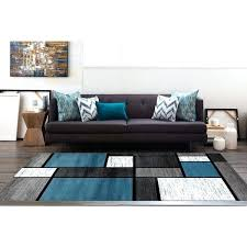 blue and white area rugs blue black white grey polypropylene contemporary modern boxes area rug 5 blue and white area rugs
