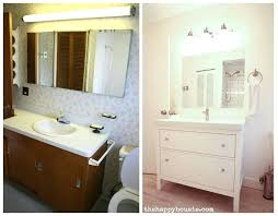 ikea bathroom closet thrifty bathroom makeover with an vanity the happy intended for sink inspirations ikea