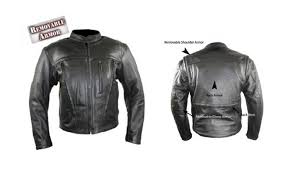 b6543 armored leather jacket