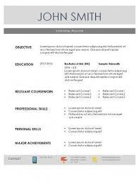 Internship Resume Sample Gorgeous Internship Resume Template