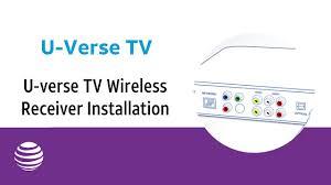 u verse tv wireless receiver installation at t u verse