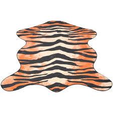 <b>Shaped Rug 150x220</b> cm Tiger Print Sale, Price & Reviews | Gearbest