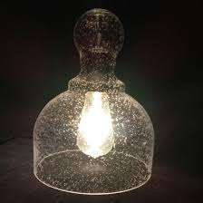 china seedy blowing glass bell lamp
