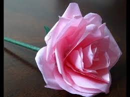 How To Make Rose Flower With Tissue Paper How To Make A Very Easy Tissue Paper Rose Flower Crafts