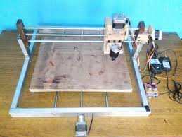 picture of my first diy wood engraving cnc router 300 x 300 mm