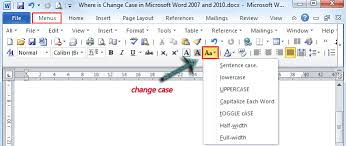 microsoft word icon where is the change case in microsoft word 2007 2010 2013 and 2016