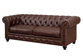 leather chesterfield chair. Bernadette Brown Leather Chesterfield Sofa Chair