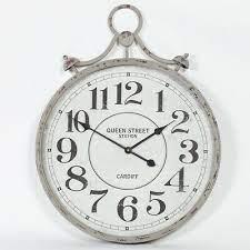 large 78cm pocket watch vintage metal