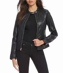 womens guess scuba genuine leather jacket usjacket197on