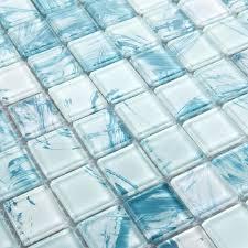 blue glass backsplash tiles mosaic tile crystal glass dinner design bathroom wall floor tiles white with blue glass backsplash tiles