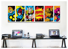 incredible comic wall art elegant design creative decoration marvel comics decor ideas multi book panel simple six uk canvas diy bc strip on marvel comics wall art uk with brilliant comic wall art home decor marvel comics retro character