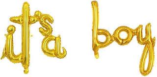"""<b>Воздушный</b> шабор <b>шаров</b>-букв (16''/41 см) Мини-Надпись """"<b>It</b>`<b>s a</b> ..."""