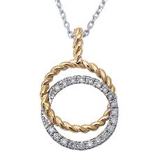 details about e vs 14kt white yellow gold round diamond circle pendant necklace 16 long
