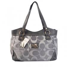Coach Logo Signature Medium Grey Totes BTM
