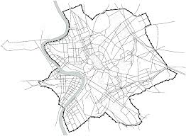Map 14 1 rome showing aurelian wall with gates and roads radiating into the centre of the city