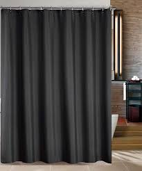 maytex water repellent fabric shower curtain or liner in black