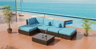 modern outdoor patio furniture. Milan Outdoor Wicker Sectional Sofa 10 X 5 Ft As Shown. Modern Patio Furniture