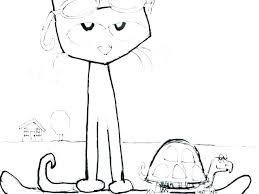 Pete The Cat Coloring Page The Cat And His Four Groovy Buttons