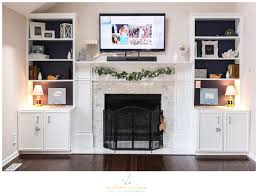 photos cozy living room with white brick fireplace iq my home bookcase built ins dining