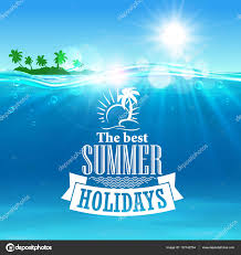 旅行デザインの最高の夏の休日ポスター ストックベクター Seamartini
