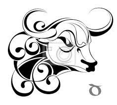 Znamení Zvěrokruhu Taurustattoo Design Obrazy Na Stěnu Obrazy
